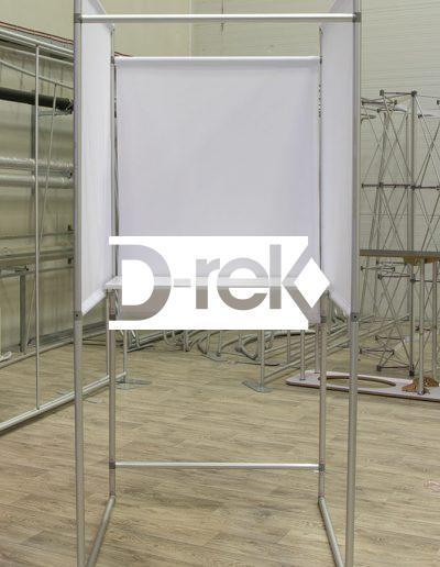 Balsavimo kabina iš aliuminio vamzdelių rinkimams: bendras vaizdas